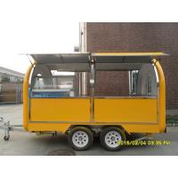 China Commercial Outdoor Mobile Kitchen Trailers By Fiberglass And Stainless Steel on sale