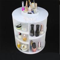 Wholesale White Acrylic Cosmetic Counter Display Stands PMMA Cylindrical More Compartments from china suppliers