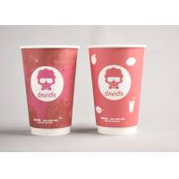 Wholesale Red Custom Printed Disposable Coffee Cups To Go For Office / Home from china suppliers