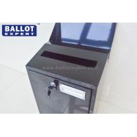 Quality Metal Black Ballot Box Exquisite , Metal Suggestion Boxes For Voting for sale