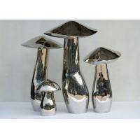 China Home Art Decoration Mushroom Garden Sculptures Stainless Steel Anti Corrosion for sale