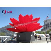 Buy cheap Outdoor large Inflatable Event Decoration Display Use Inflatable Red Lotus Flower from Wholesalers