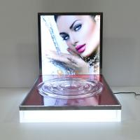Wholesale LED Luminous Acrylic Counter Display Stands Striped Surface For Beauty Products from china suppliers