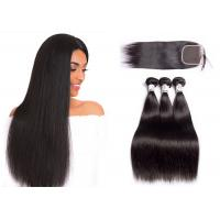 Wholesale Soft 4 Bundles Brazilian Human Hair Bundles With Straight Closure 100% Human Hair from china suppliers