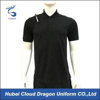 Wholesale 200 Gsm Short Sleeve Security Guard T Shirts Pique Black Work Shirt Breathable from china suppliers