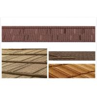Wholesale Roman / Grid Stone Chip Coated Steel Roof Tiles / Wood Grain roofing shingle from china suppliers