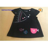 Wholesale 3D Fish Cap Children T Shirt Crew Neck Baby Girl Black Long Sleeve Shirt from china suppliers