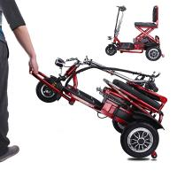Wholesale Electric three wheel scooter for elderly people folding tricycle 12AH lithium Battery from china suppliers
