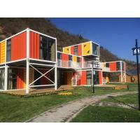 China Orange Prefabricated Shipping Container Homes For Flatpack Office Living Room Residential on sale