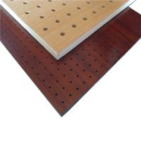 China Meeting Room Perforated Wood Acoustic Panels Wood Wall Paneling Sheets on sale