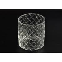 Wholesale Pillar Cut Glass Candle Holders Decorative Glassware Customizable from china suppliers