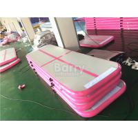 Wholesale OEM & ODM 3m or 6m Long Pink Inflatable Tumble Track Air Floor Pro For Gym from china suppliers