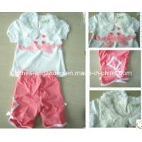 Wholesale Lovely Baby Girl Clothes Set Pink Shirt+Stripe Pant, Children Summer Clothing Sets from china suppliers