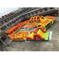 Wholesale 30 * 30m Yellow Square Giant Inflatable Obstacle Course For Outdoor Game from china suppliers