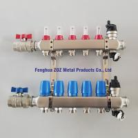 China stainless steel radiant water heating manifolds for central heating system, floor heating manifold for sale
