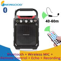 Wholesale Remote Control Echo Recorder Amplifier Sound Speaker FM Radio Professional Audio Voice Portable Bluetooth Speaker from china suppliers