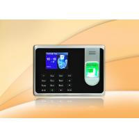 Buy cheap Black Simple Fingerprint Time Attendance System With Li - Battery from wholesalers