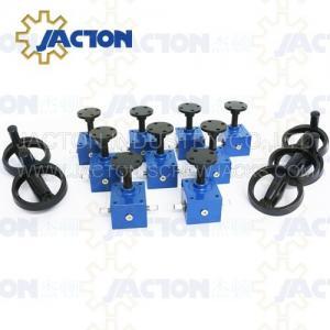 China SWL QWL Series Motorized Screw Lift Jack WPT50-5Tons Cast iron Screw jack Worm Gear mechanical jack on sale