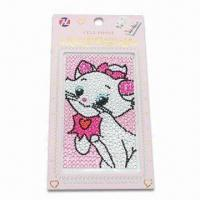 Wholesale Cell Phone Rhinestone Sticker, Safe and Non-toxic, Available in Various Sizes from china suppliers