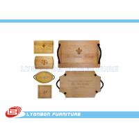 Wholesale OEM Display Accessory Wood Engraving Logo Paint Finished , Customize Size from china suppliers