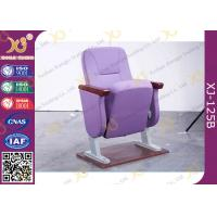 Buy cheap Purple Folding Church Hall Chairs With Fabric Covers / Auditorium Seating from wholesalers