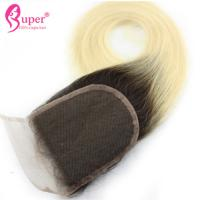 Wholesale Pre Plucked Lace Virgin Hair Closures Ombre Cuticle Aligned Straight from china suppliers