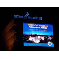 Wall Mounted Waterproof IP65 Outdoor Full Color Led Display RoHS 8000nits for sale
