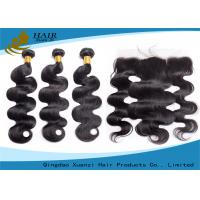 Wholesale 100% Brazilian Virgin Human Hair Bundles With Lace Hair Closure from china suppliers