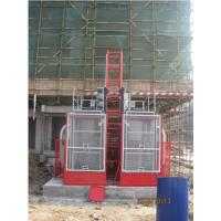 VFD Red Twin Cage Construction Material Hoists for Building SC100 for sale