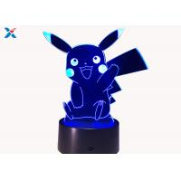 Wholesale Colorful Acrylic Light Guide Panel 3D Light Guide Night Light Pikachu PokéMon from china suppliers