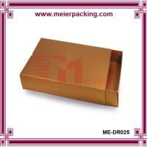 Wholesale Matt golden drawer box/Paper packaging slider box/Golden cardboard drawer box ME-DR025 from china suppliers