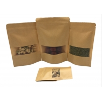 China Biodegradable Waterproof Printed Kraft Paper Pouches on sale