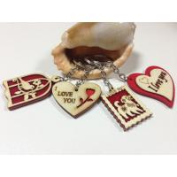 Wholesale wood craft manufacturer wood gift keychain with laser engraved letters from china suppliers