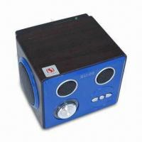 Wholesale Wooden SD Card USB MP3 Speaker with Remote Control and Standard 3.5mm Audio Plug from china suppliers