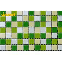 Wholesale Fade - Resistant Bathroom Iridescent Glass Mosaic Tile For Wall Covering from china suppliers