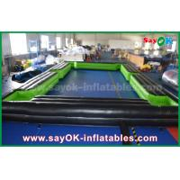 China Black / Green Inflatable Sports Games Inflatable Snookball Tables Pool 12 Balls on sale