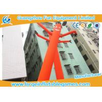 China Large Orange Wacky Arm Waving Inflatable Tube Man With Heat Transfer Printing on sale