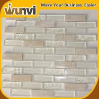 Buy cheap Kitchen Wall Glass and Stone Tile 8mm Fashional strip Style from wholesalers
