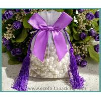 Wholesale high quality organza bag organza sheer gift bag with tassels new design from china suppliers