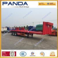 Buy cheap PANDA 3 axle 40ft flat bed trailer, 40T flatbed trailer with stake sale for from wholesalers