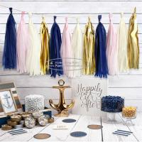 China Tassel Garland Outdoor And Indoor Paper Wedding Happy Birthday Garland for sale