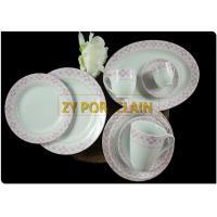 Luxury 7.5 / 8 Inch Purple Colored Porcelain Dining Ware Sets With OEM Backstamp