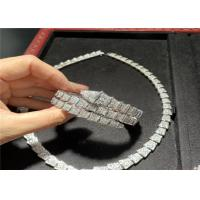 Wholesale Custom 18K White Gold Necklace / Bracelet / Earrings With Genuine Diamonds from china suppliers
