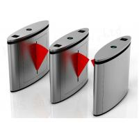China Brush Motor Controlled Access Flap Barrier Gate Speed Pass 304 Stainless Steel on sale