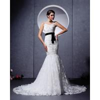 Wholesale Elegant court train Appliques sash wedding dress / V neck wedding bridal gowns from china suppliers