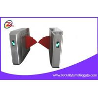 China Biometric Retractable Flap Barrier Gate , Access Control Barriers Double Swing Arm on sale