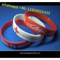 Christmas gift custom silicone wristband / bracelet / rubber band for kids for sale