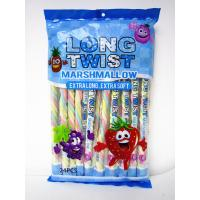 Wholesale Fruit Flavor Long Twisted Marshmallow Candy Bar Extra Long And Soft from china suppliers