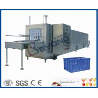 China Juice Bottle Plastic Crate Washing Machine , Stainless Steel Crate Washer Machine on sale