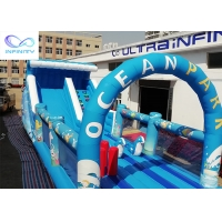 Wholesale Giant outdoor Inflatable ocean park water slide with bounce house for rental or party from china suppliers